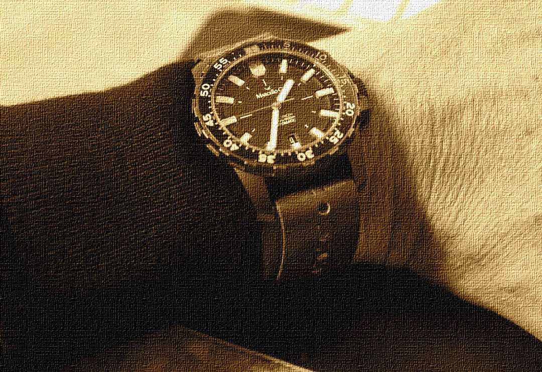 handmade vegtan 3oz cognac watch strap