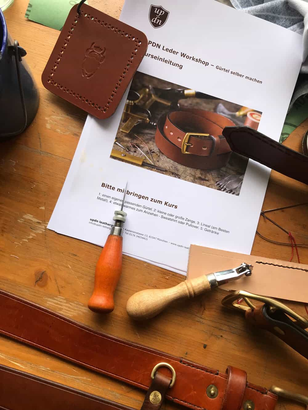 Leder Workshop - Gürtel selber machen