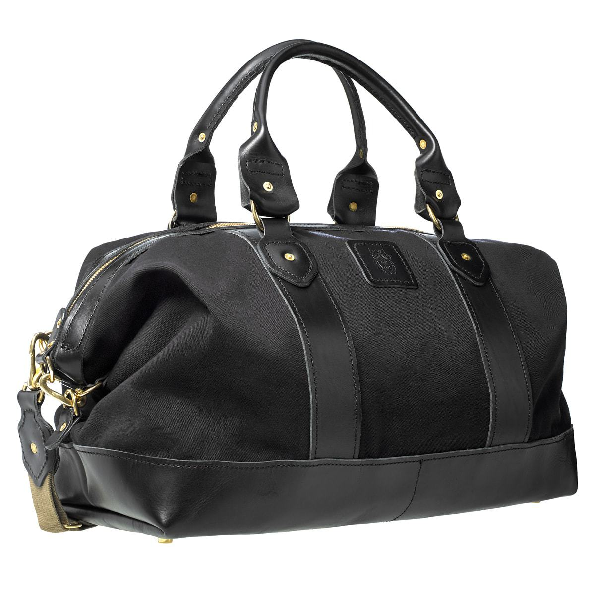 cabin canvas and bridle leather weekender