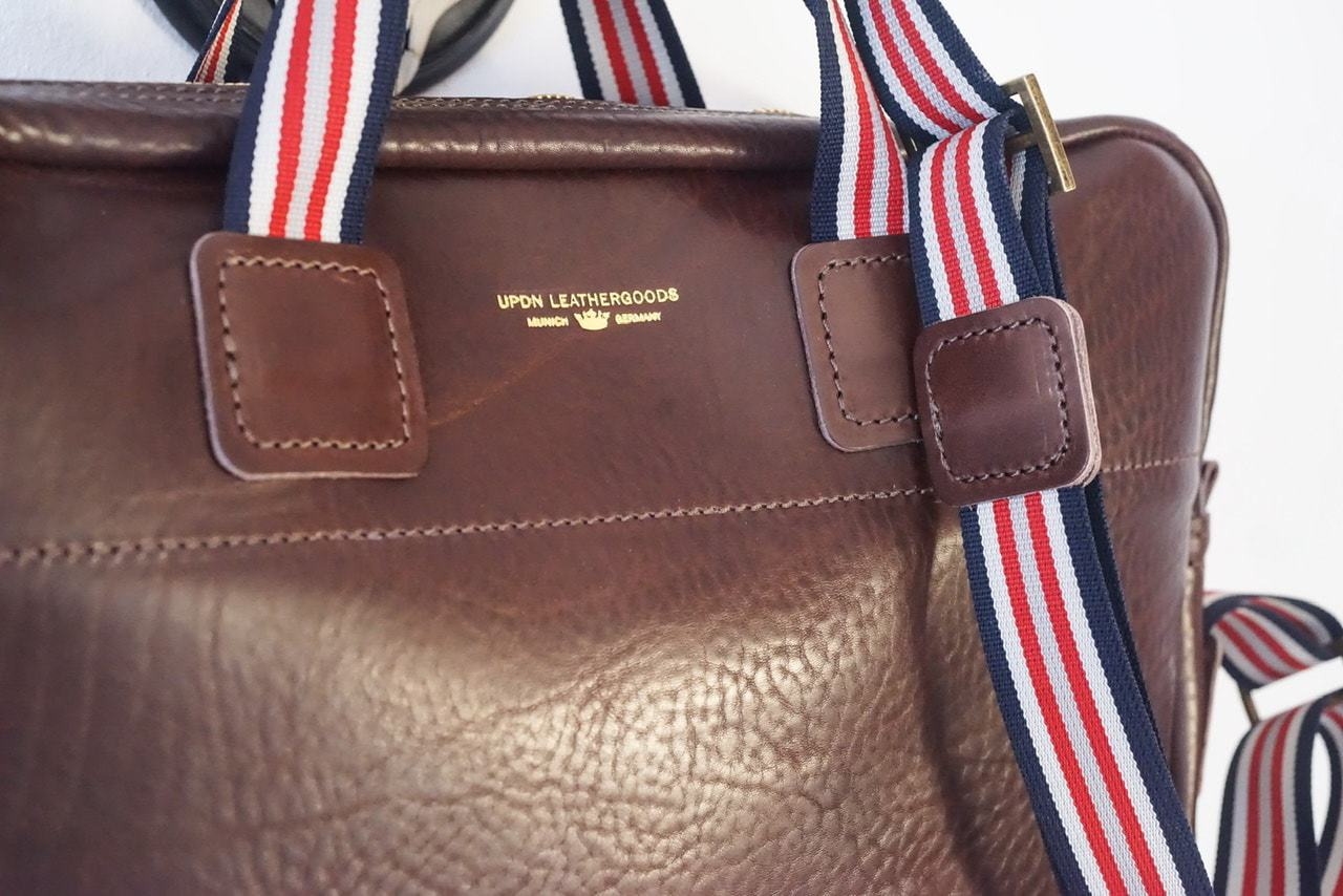 Soft casual leather briefcase