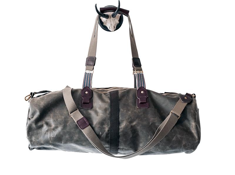 mens olive waxed canvas duffel bag